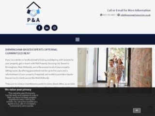 PA Property Sourcing Image Capture of Website