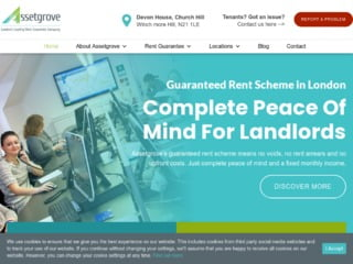 Screen capture of Asset Grove assured rental income service