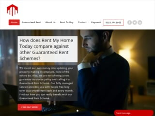 Rent My Home Today Screen Shot from their website