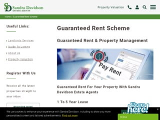 Sandra Davidson Guaranteed Rent Page On Website