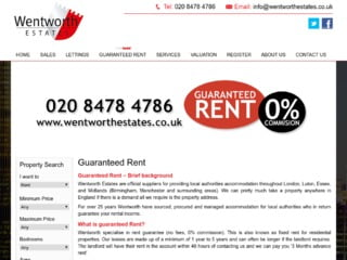 Wentworth Estates Do Rental Assurance Scheme On website